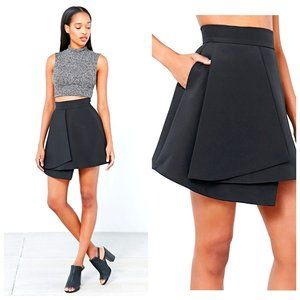 REVOLVE C/MEO COLLECTIVE Black Asymmetric Skirt